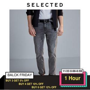 Image 1 - Selecionado masculino fino ajuste estiramento algodão cinza jeans lab