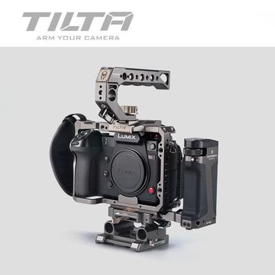 TILTA caméra Cage pour panasonine S1 S1H S1R DSLR caméra avec support de chaussure froide pour Micrphone Flash Light TA T38 FCC G