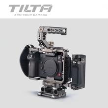 TILTA kamera kafesi için PANASONIN S1 S1H S1R DSLR kamera W/soğuk ayakkabı dağı için mikrofon flaş ışığı TA T38 FCC G