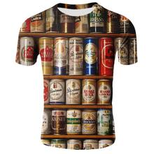 Summer 2019 Men's Clothing Brand O-neck Printt Beer Short Sleeve 3d T Shirt Fashion Harajuku T-shirt Homme Large Size 5XL(China)