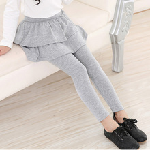 Girls Leggings Toddler Children Skirt-Pant New Autumn Spring Solid for 2-3-4-5-6 7/8/9/..