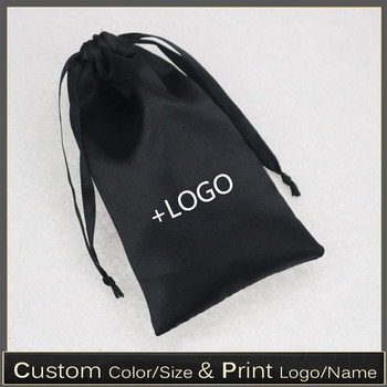 Satin Bags for Packaging Hair Soft Silk Pouches Drawstring Storage Bag Cloth/Shoes/Jewelry/Dust/Gift Packing
