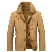 Nueva chaqueta de invierno para hombre de terciopelo grueso solapa uniforme abrigo otoño nueva chaqueta de bombardero ropa de algodón hombres Jaqueta Masculina al por mayor