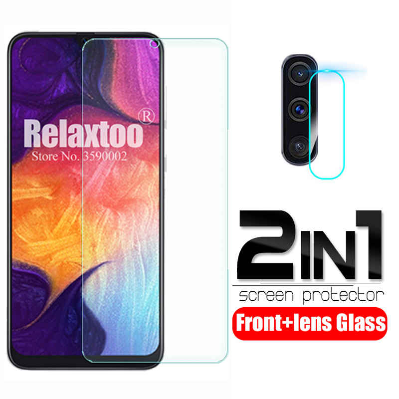 2 In 1 Tempered Glass For Samsung Galaxy A50 A50s 2019 Camera Lens Protector Film Samsun A 50 S 50s A505F A507F Protective Glass