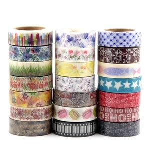 Image 3 - In vendita A Caso Della Miscela 30 rolls del nastro di washi set petalo Del Fiore Animale di Carta Giapponese Washi nastro 15mm * 10m di Alta qualità