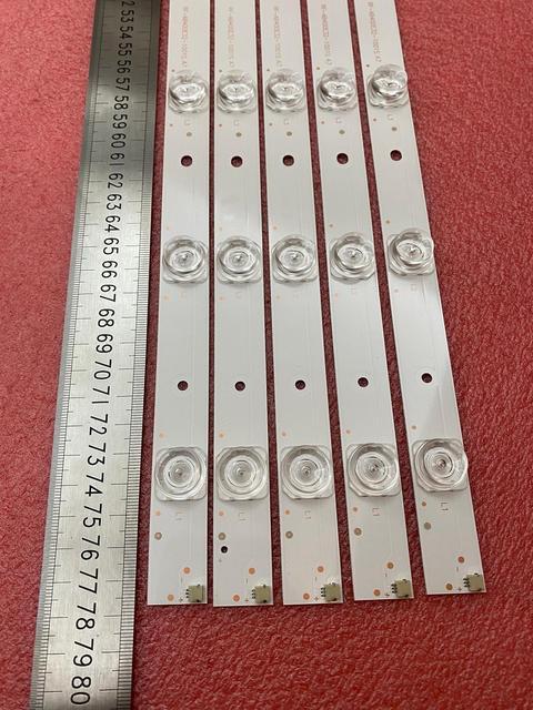 جديد 5 قطعة/الوحدة 10LED 777 مللي متر LED شريط إضاءة خلفي لشركة هيتاشي LE40S508 C400F13 E2 C (G2) RF AB400E32 1001S 01 A7