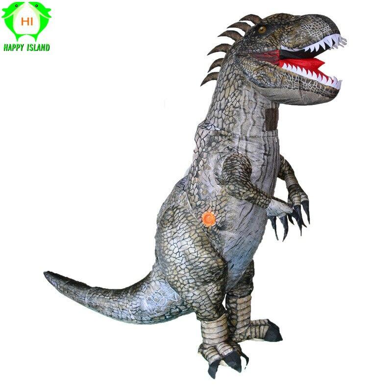 Inflatable Tyrannosaurus Rex Dinosaur Costume Adult Fancy Dress Blow Up Costume