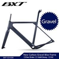 2020 Carbon Gravel Bike Frame Thru Axle 142mm disc cyclocross carbon frame Gravel 700C Carbon Bike Frame Di2 Gravel Frame Fork