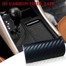 All Sides 3D Carbon Fiber Car Sticker DIY Paste Protector Strip Auto Door Sill Side Mirror Tape Protection Accessories Goods