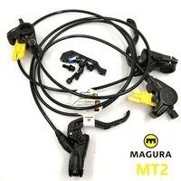 MAGURA MT2 Brake Bicycle Front Rear Hydraulic Diac Brake Lever & Caliper MTB Mountain Bike Oil Brake With Brake Rotor 160mm