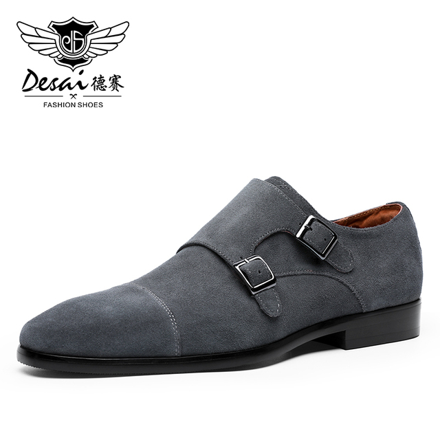 Desai ブランド本物の牛革紳士靴冬のカジュアルシューズ男性ドイツフォーマル高級リアルカスタムメーカー