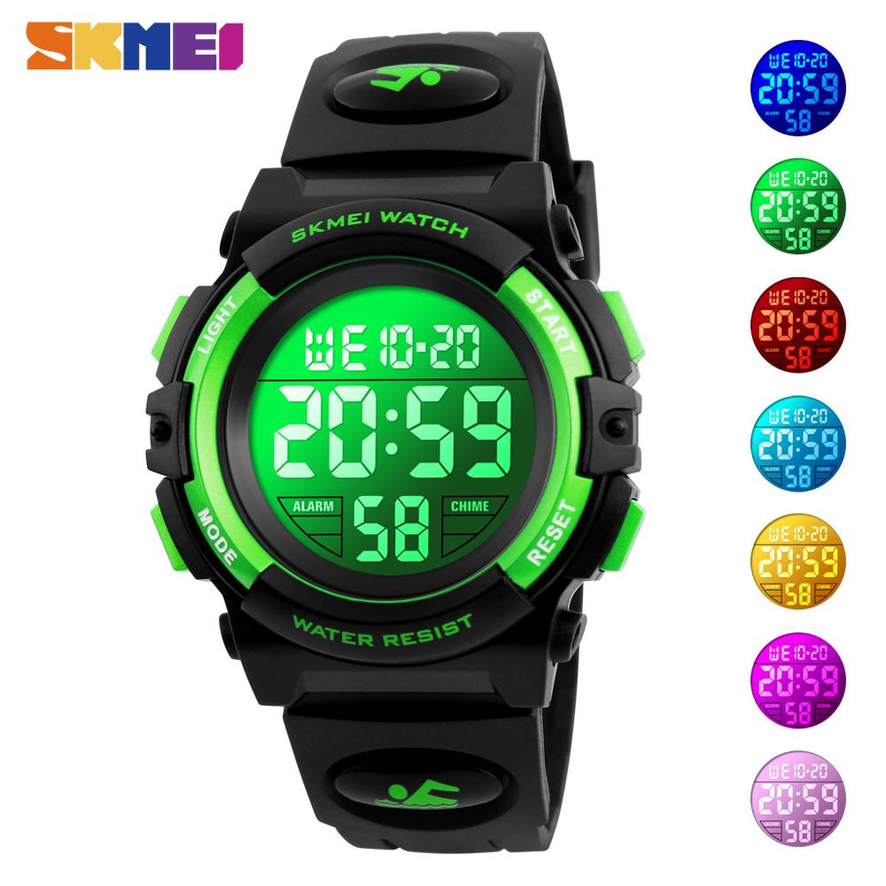 SKMEI Boys Girls Sports Watches Chronograph Kids Electronic Wristwatches 50M Waterproof Children Digital Watch Relogios Infantis