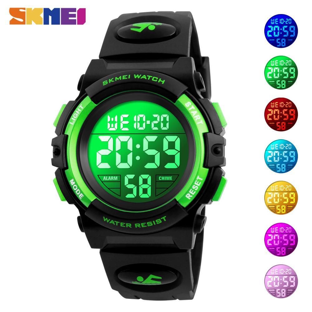 SKMEI Boys Girls Sports Watches Chronograph Kids Electronic Wristwatches 50M Waterproof Children Digital Watch Relogios Infantis