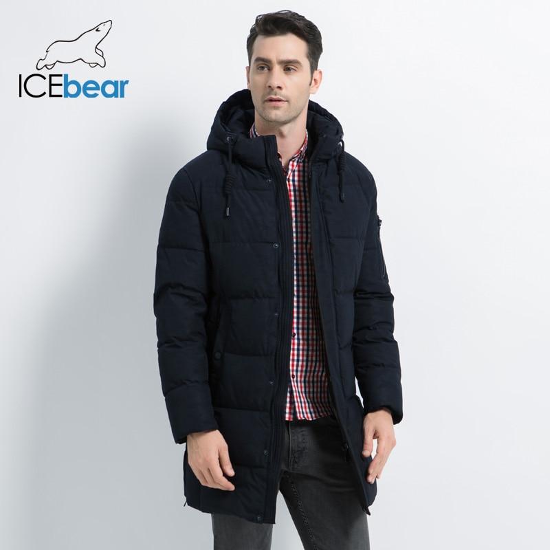 ICEbear 2019 nouveau hiver hommes veste de haute qualité hommes manteau épais chaud mâle coton vêtements marque homme vêtements MWD17933I