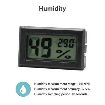 Mini Digital Humidity Meter Thermometer Hygrometer Sensor Gauge LCD Temperature Refrigerator Aquarium Monitoring Display Indoor 3
