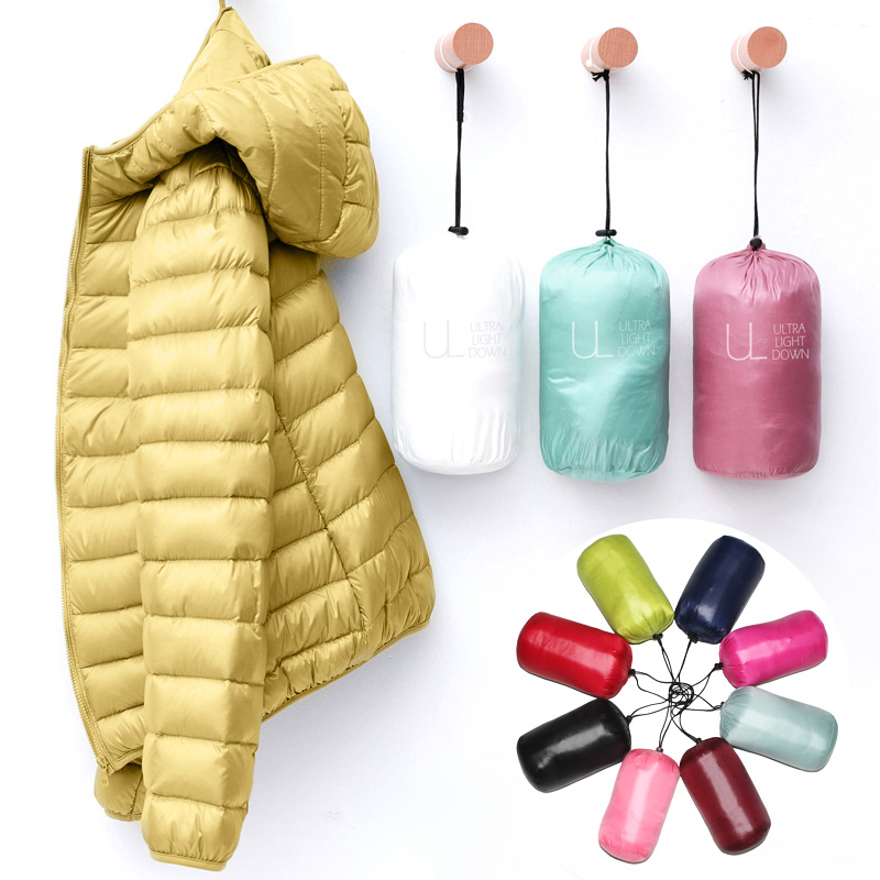 Down Jacket Women Coat Autumn Winter 2020 Spring Jackets for Warm Quilted Parka Ladies and Light 2021 Female Ultralight Hooded 1