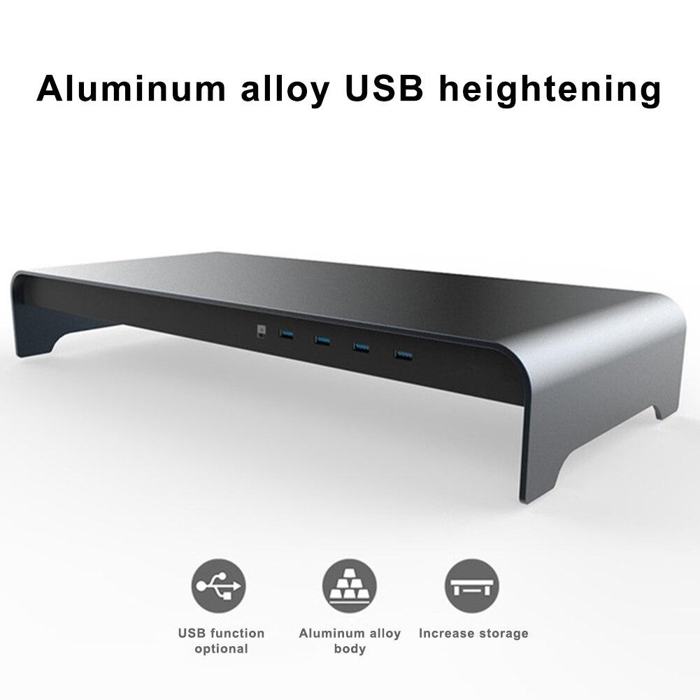 Nova base inteligente liga de alumínio computador portátil base suporte com 4 porta usb 3.0 dom668 - 2