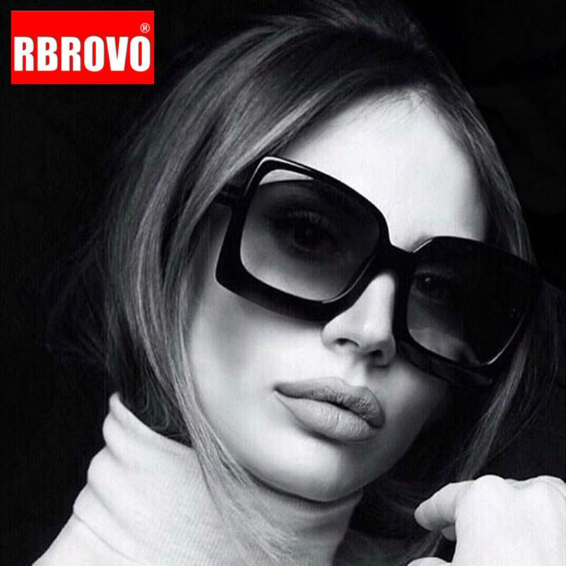 RBROVO 2021 Oversized Sunglasses Women Vintage Sun Glasses for Women/Men Luxury Sunglasses Women Mirror Oculos De Sol Feminino