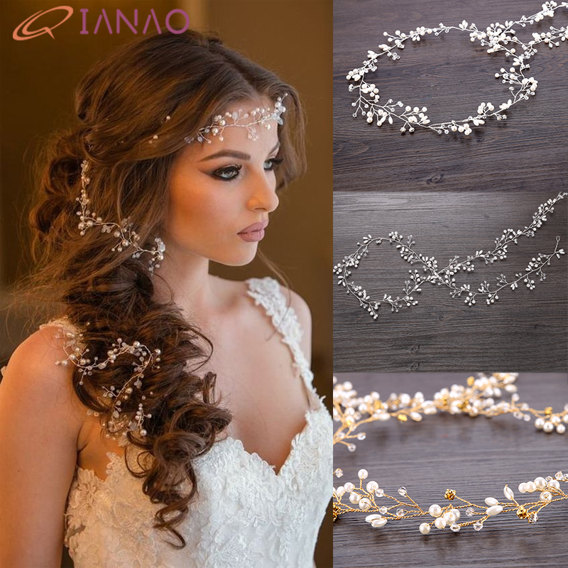 Wedding Headband Pearl Flower Bride Headbands Hair Accessories Bridal/'s Tiara