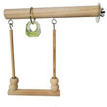 Papagaio brinquedo de madeira balançando trapézio gaiola pássaro budgie canário brinquedo accesrios para aves