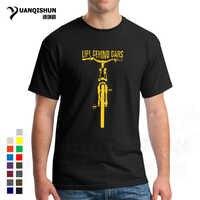 16 цветов, модная футболка с круглым вырезом, забавная одежда, повседневные футболки с коротким рукавом, Мужская футболка для горного велосп...