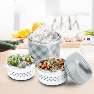 Image 5 - ポータブルステンレス鋼の熱弁当箱オフィス弁当漏れ防止魔法瓶弁当箱食品容器