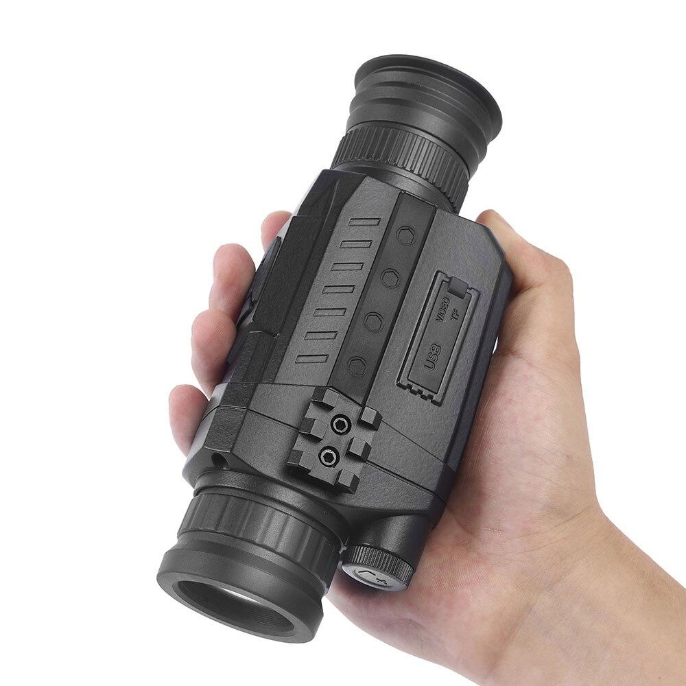 Jagd Taktische Nachtsicht Monokulare Teleskop Camouflage/Schwarz Infrarot Eingebaute Digital Kamera Für Lange Palette