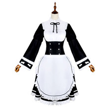 Anime Re:Life in a different World from Zero Rem Cosplay Costume Memory Snow Rem Cosplay Dress Halloween Costumes For Women(China)