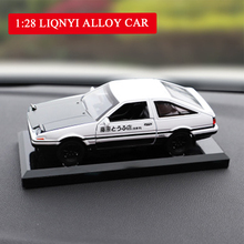 1:28 Alloy Car New Toyota AE86 INITIAL D Model Anime Cartoon Fast Furious With Pull Back Sound Light For Boy Toys Free Shipping