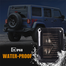 LED Tail Light Turn Signal Lamps Auto Stop Brake For Jeep Wrangler 2007 2008 2009 2010 2011 2012 2013 to 2017 Parking Stop Light