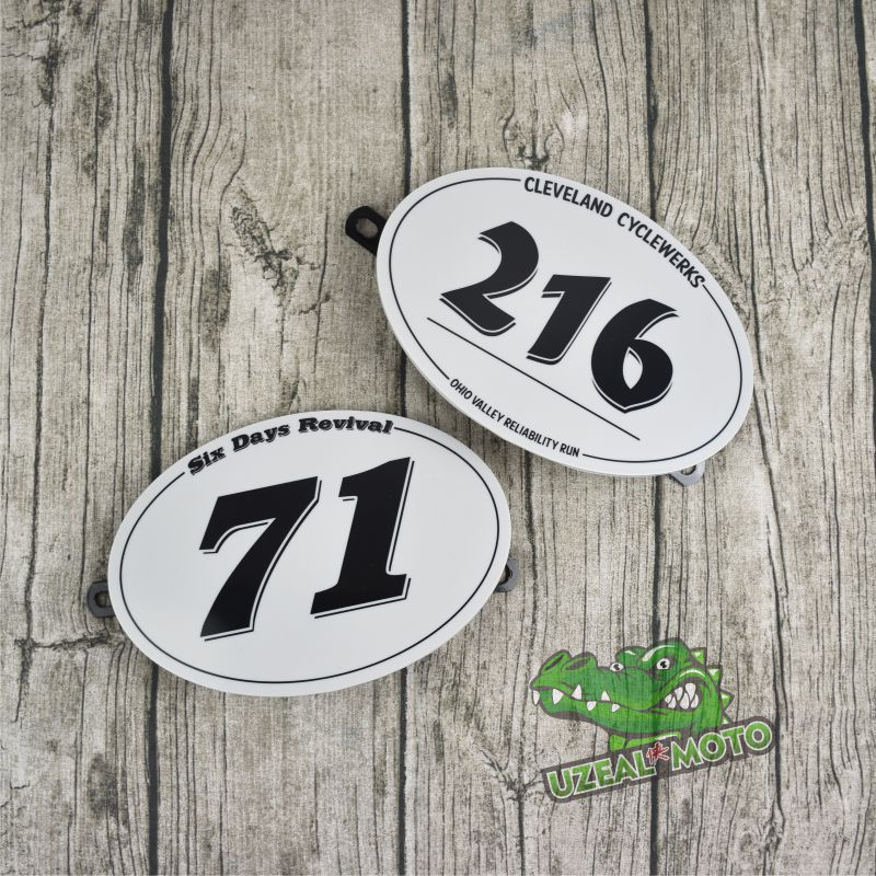 Retro Motorcycle Modified Cafe Racer Climbing Number Plate Decorative Number Plate