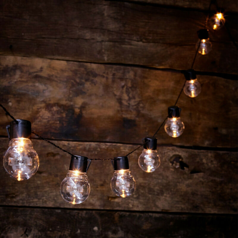 Solar Powered Retro Bulb String Lights For Garden Outdoor Fairy Summer Lamp US