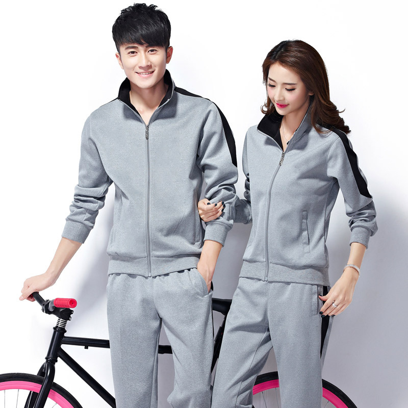 Sports Set Couples Spring And Autumn Long Sleeve Men's Young STUDENT'S Running Outdoor Clothing Casual Loose-Fit Sports Clothing