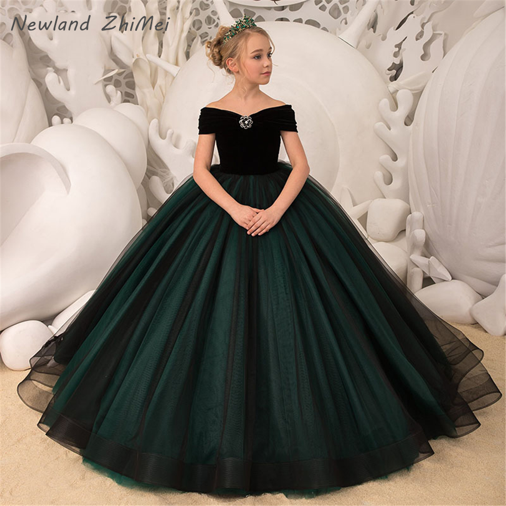 New 2020 First Communion Dresses For Girls Skin-friendly Off The Shoulder Ball Gown Communion Dresses Robe Mariage Enfant Fille