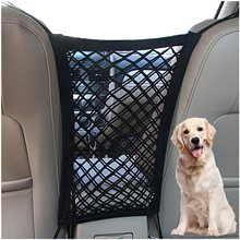 Dog Car Net Barrier Pet Barrier with Auto Safety Mesh Organizer Baby Stretchable Storage Bag Universal for with Children & Pets
