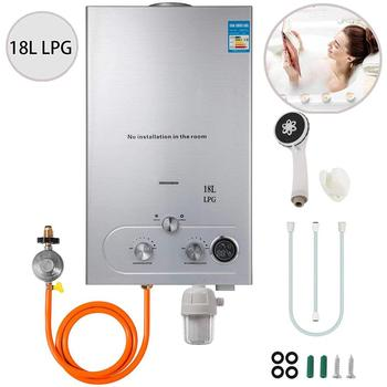 VEVOR 18L 4.8GPM проточный пропановый водонагреватель с фильтром для воды и газовым регулятором для наружного дома RV и т. д.