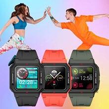 P10 akıllı saat moda yüksek kaliteli erkek tam dokunmatik kalp hızı monitörü IP67 su geçirmez spor izci 1.3 inç akıllı bilezik