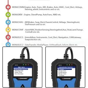 Image 4 - KW350 מקצועי OBD2 סורק אוטומטי קוד קורא עבור פולקסווגן לאאודי עבור סקודה אבחון בדוק מנוע אור סריקת כלי