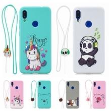 Funda Xiaomi Redmi Note 7 Pro Case Kawaii 3D Lanyard Unicorn Silicone Cover on for etui 7A Xiomi women