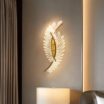 Fss Modern Gold Designer Wall Lights For Bedroom Bedside Wall Sconce LED Lamp AC 110V 220V Home Lighting Indoor Light Fixtures
