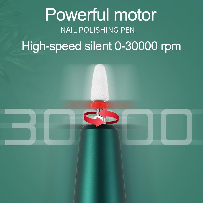 carregamento usb maquina de manicure 35000rpm moedor 02
