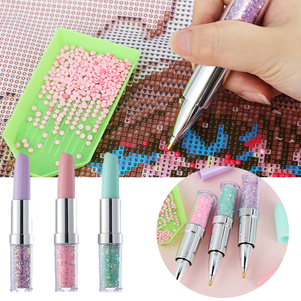 Accessories 5D Diamond Painting Point Drill Pen Cross Stitch Tool Lipstick Pens