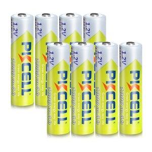 Image 3 - 8 adet PKCELL AAA pil 1.2V Ni MH AAA şarj edilebilir pil 1000MAH piller 3A Bateria Baterias 2 adet AAA/AA pil tutucu