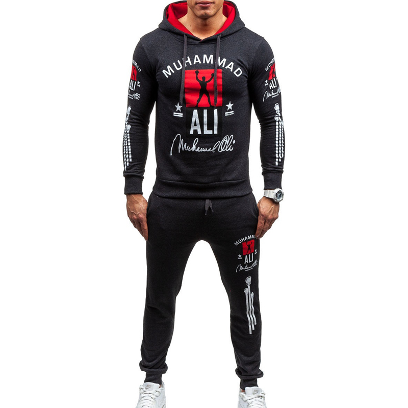 Vogue Mens Tracksuit Brand Two Piece Hooded Sweatshirt With Sweat Pants Set Male Casual Sweatsuit Sportwear Men Track Suit Set