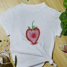 Verão diário casual feminino algodão camiseta moda topo camisetas engraçado impressão dos desenhos animados bonito básico manga curta o-pescoço camisetas para mulher