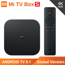 Oryginalna wersja globalna Xiaomi Mi TV Box S 4K HDR Android TV 2G 8G WIFI Google obsada Netflix IPTV dekoder 4 odtwarzacz multimedialny