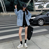 2 colors Women's casual Jean Coats 2019 autumn Women loose Denim Jacket Long Sleeve Loose Female Girls Outwear (78228) 4