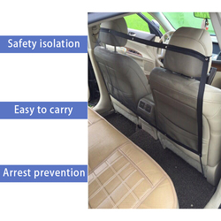 62cm Aislamiento de viaje de seguridad for mascotas Red de asiento trasero Malla de barrera for perro for Universal Car Van SUV Barrera de red for autom/óvil 115