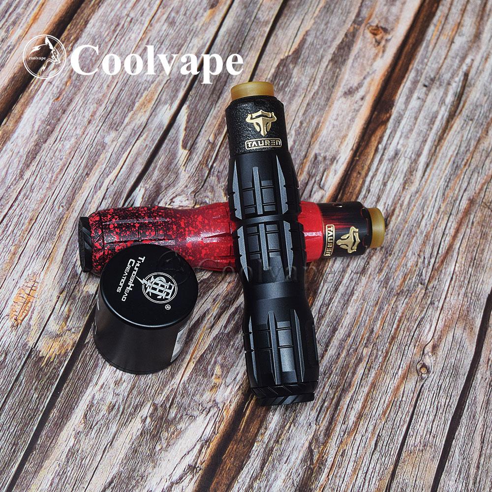 Coolvape Titan X Mod With THC Tauren RDA Vaporizer 18650 20700 21700 Battery Mechanical Mod 25mm Vape Vs THC Tauren Mech Mod