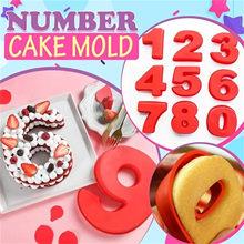 Goldbaking 10 дюймов Большой силиконовый номер формы 0-9 арабскими цифрами торта Формы для выпечки торта на день рождения # HP